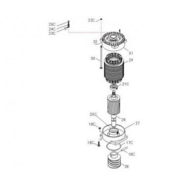 CAME 119RIBK021 Электродвигатель ВК-2200