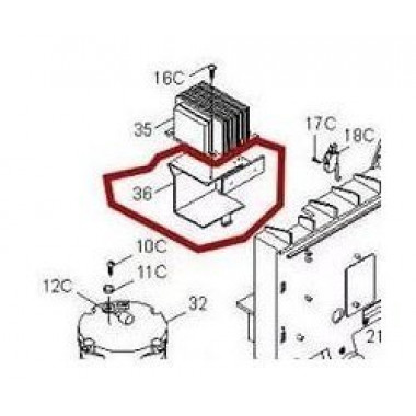 CAME 119RIBX036 Кронштейн крепления аккумуляторов BX-P