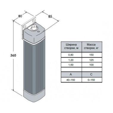 CAME FLEX 500 привод рычажный для распашных ворот