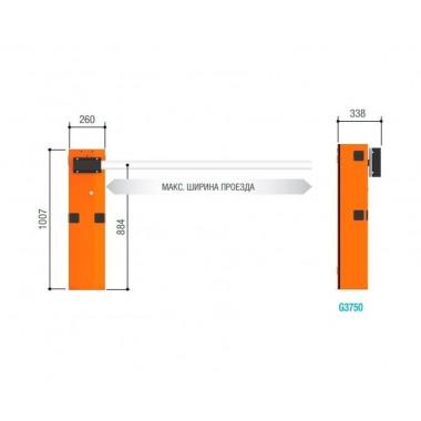 CAME GARD 3750 DX COMBO автоматический шлагбаум 4 м для правостороннего монтажа