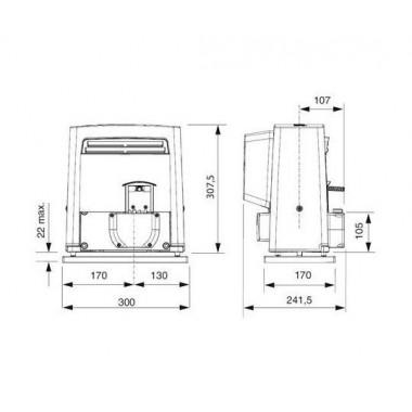 CAME BX704AGS (801MS-0020) привод для откатных ворот до 400 кг