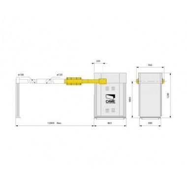 CAME GARD 12000 шлагбаум автоматический 12 м