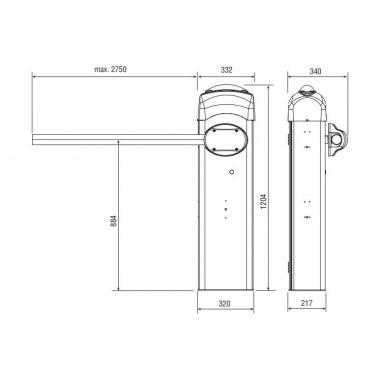 CAME GARD 3000 дюралайт шлагбаум автоматический