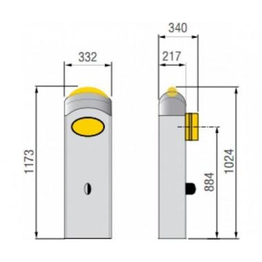 CAME G3000 DX (001G3000DX) тумба шлагбаума для правостороннего монтажа