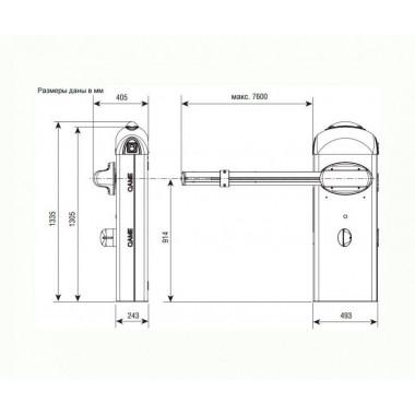 CAME GARD 8000/6 шлагбаум автоматический длина стрелы 6 метров