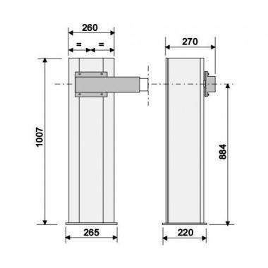 CAME G4000 DX (001G4000) тумба шлагбаума для правостороннего монтажа