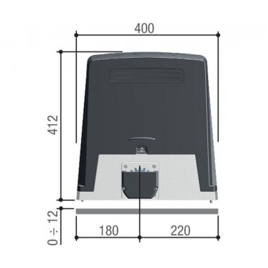 CAME BKV25AGE PLUS (801MS-0370) привод для откатных ворот до 2500 кг