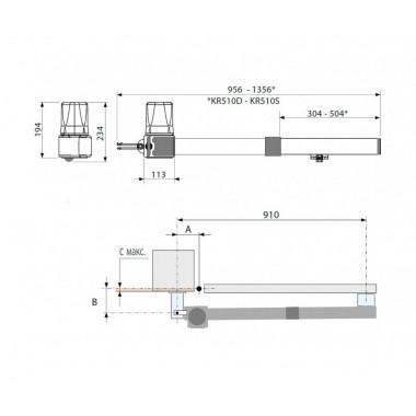 CAME KRONO 310 автоматика для распашных ворот до 800 кг