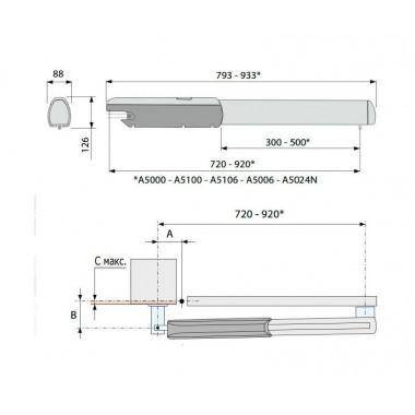 CAME ATI 5024N комплект распашных приводов до 1000 кг