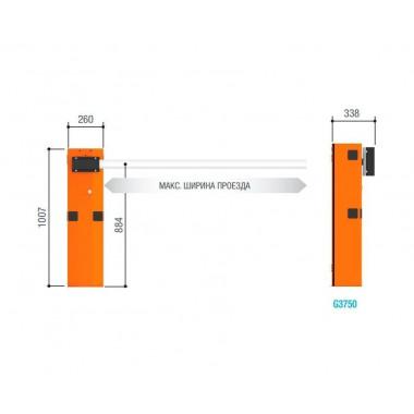 CAME GARD 3750 дюралайт комплект шлагбаума 3.75 м