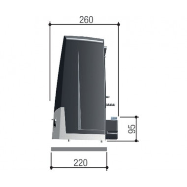 CAME BKV25AGS (801MS-0320) привод для откатных ворот до 2500 кг