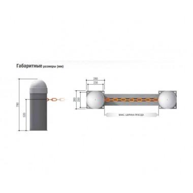 CAME CAT-I колонка с противовесом и системой натяжения цепи