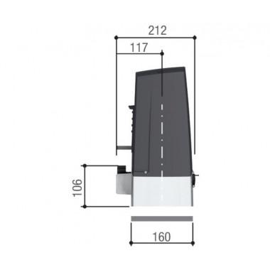 CAME BXV04AGS (801MS-0150) привод для откатных ворот до 400 кг