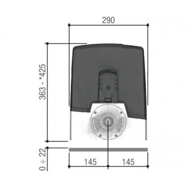 CAME BXV04AGF (801MS-0160) привод для откатных ворот до 400 кг