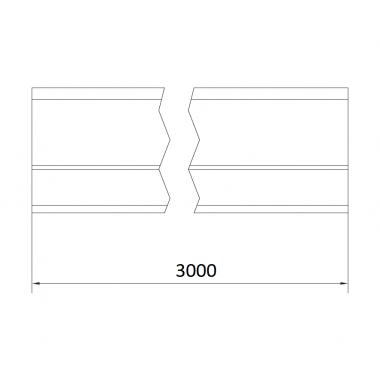 CAME STAGE MZ 3 (1700170) рельс направляющий оцинкованный 3 м до 800 кг