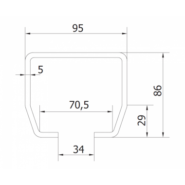 CAME STAGE MZ 6 (1700012) рельс направляющий оцинкованный 6 м до 800 кг