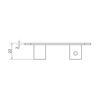 CAME PILOT M (1700015) заглушка концевого ролика