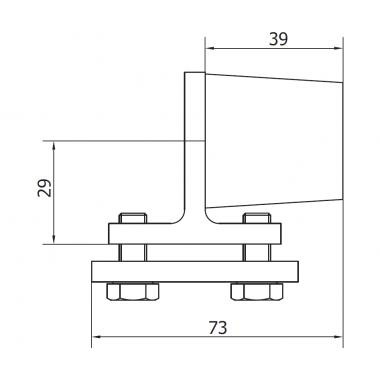 CAME FINISH M (1700017) ограничитель внутренний для рельса до 800 кг