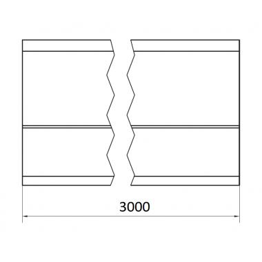 CAME STAGE LB 3 (1700178) рельс направляющий 3 м до 1700 кг