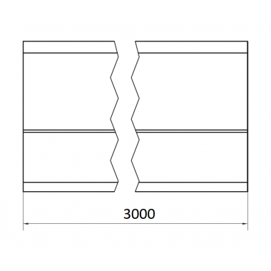 CAME STAGE LZ 3 (1700019) рельс направляющий оцинкованный 3 м до 1700 кг
