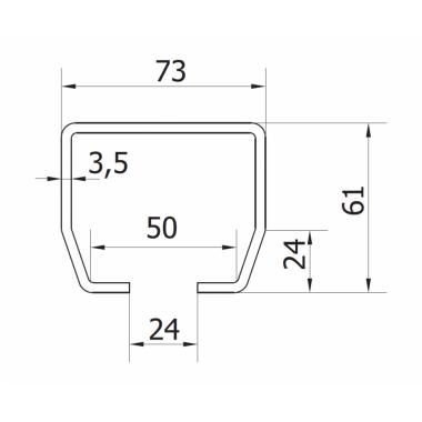 CAME STAGE SZ 6 (1700003) рельс направляющий оцинкованный 6 м до 500 кг