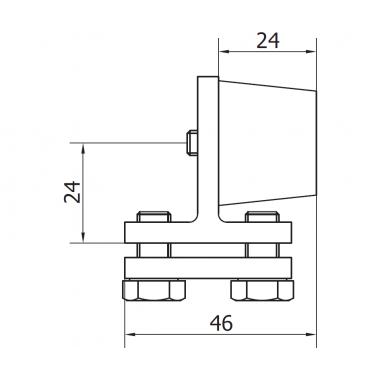 CAME FINISH S (1700008) ограничитель внутренний для рельса