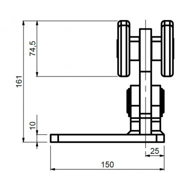 CAME SPEED MEK (1700190) тележка с 8 роликами до 700 кг