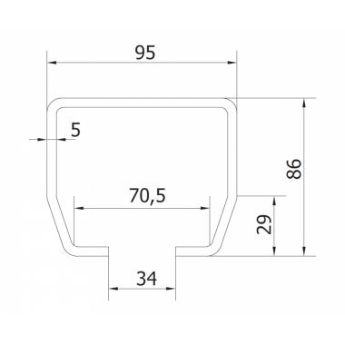 CAME STAGE MB 3 (1700169) рельс направляющий 3 м до 800 кг