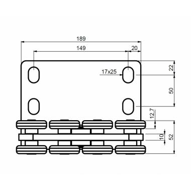 CAME SPEED SK (1700189) тележка с 8 роликами до 500 кг