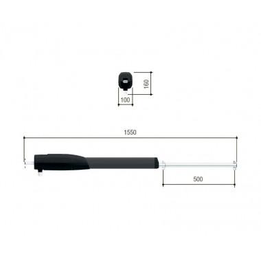 CAME ATS50AGS (801MP-0060) привод линейный для створок до 5 м