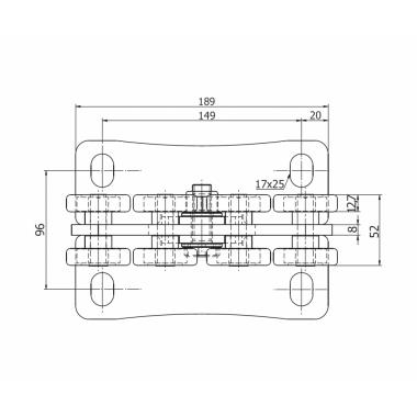 CAME SPEED SE (1700174) тележка с 8 роликами
