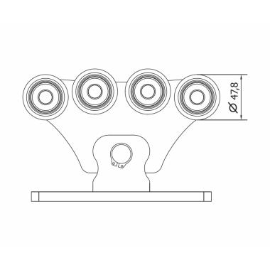 CAME SPEED S (1700001) тележка с 8 роликами