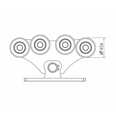 CAME SPEED ME (1700009) тележка с 8 роликами