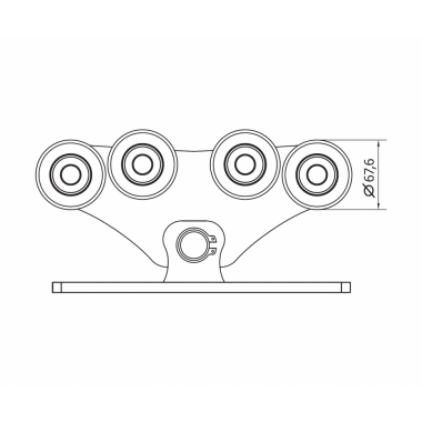 CAME SPEED M (1700010) тележка с 8 роликами