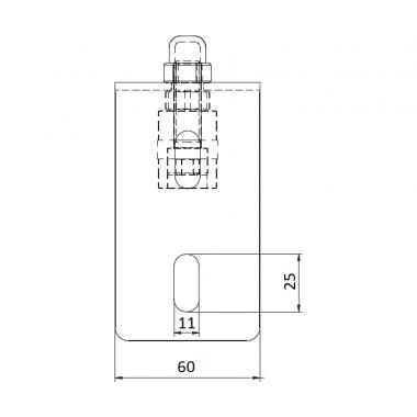 CAME FRS 2 (1700183) скоба направляющая с 2 роликами
