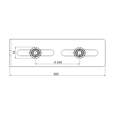 CAME FRM 2 (1700184) скоба направляющая с 2 роликами