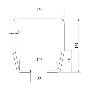 CAME STAGE LB 6 (1700179) рельс направляющий