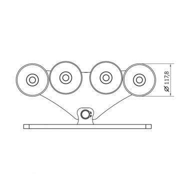 CAME SPEED L (1700018) тележка с 8 роликами