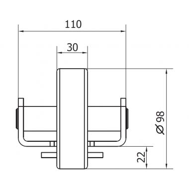 CAME RUN L (1700020) ролик концевой