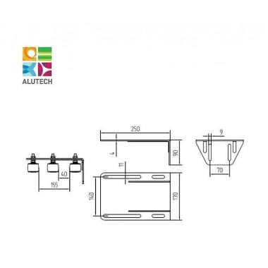 Alutech SGN.03.717 кронштейн