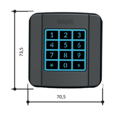 CAME SELT2NDG (806SL-0160) Клавиатура кодонаборная встраиваемая