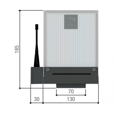 CAME DD-1KB (001DD-1KB) сигнальная лампа универсальная 230/24 В синего цвета