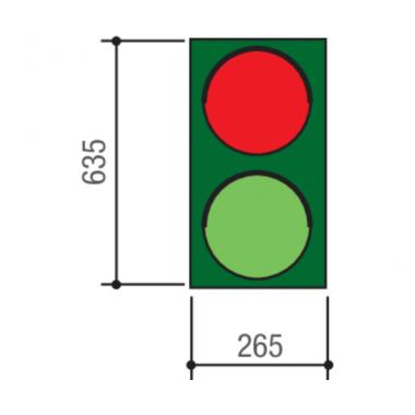 CAME PSSRV1 (001PSSRV1) светофор ламповый двухсекционный