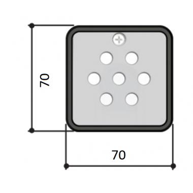 CAME S6000 (001S6000) кодовая клавиатура 7-кнопочная встраиваемая